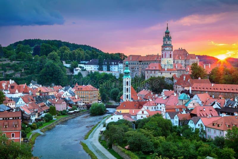 Πόλη Cesky Krumlov στοκ εικόνα με δικαίωμα ελεύθερης χρήσης