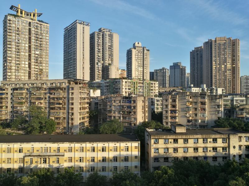 Πόλη Chongqing βουνών στοκ εικόνες με δικαίωμα ελεύθερης χρήσης