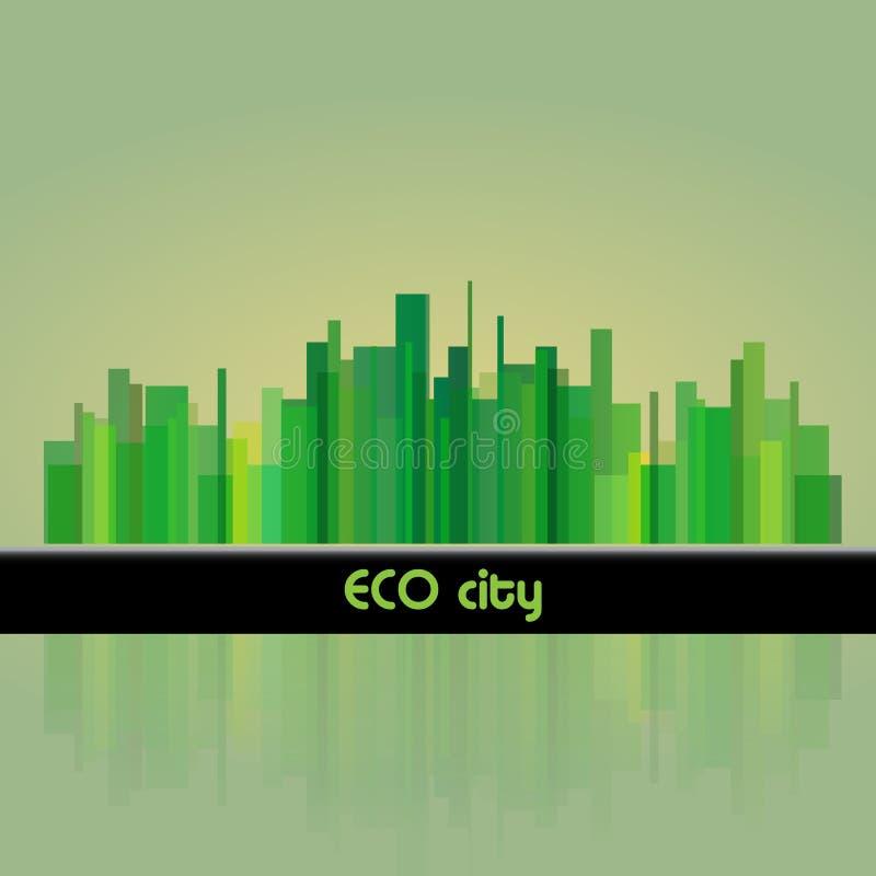 πόλη eco ανασκόπησης απεικόνιση αποθεμάτων