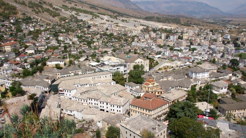 Πόλη Gjirokastà «ρ στην Αλβανία στοκ εικόνες