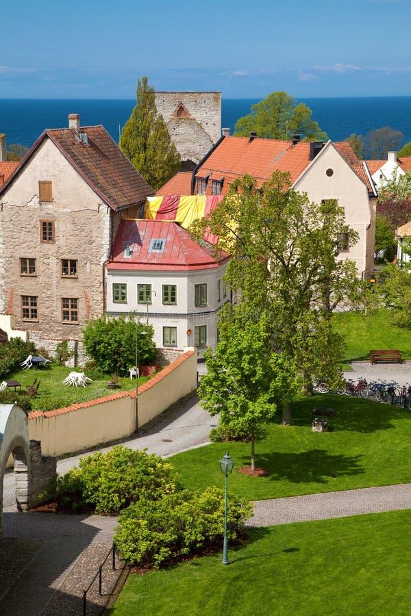 πόλη Gotland Σουηδία visby στοκ εικόνα