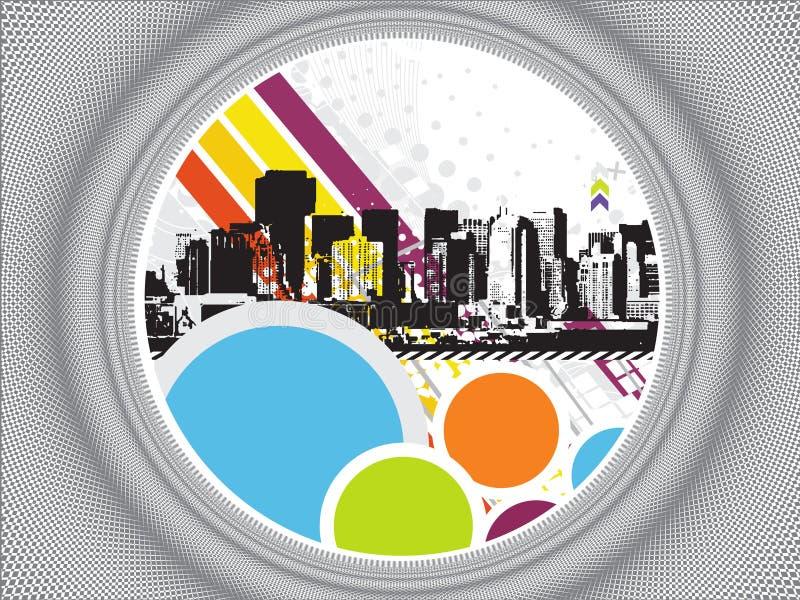 πόλη grunge αστική διανυσματική απεικόνιση