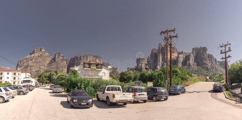 Πόλη Kalambaka στην Ελλάδα στοκ φωτογραφία με δικαίωμα ελεύθερης χρήσης