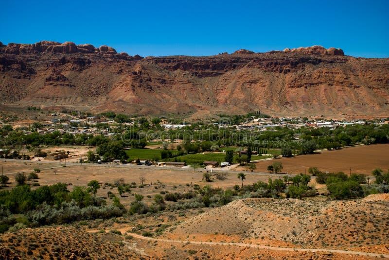 πόλη moab στοκ εικόνα