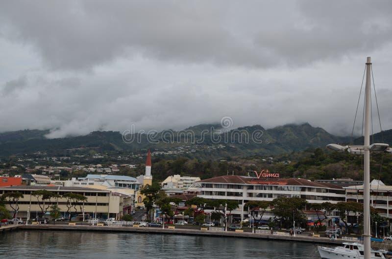 Πόλη Papeete στο νησί της Ταϊτή στοκ εικόνα με δικαίωμα ελεύθερης χρήσης