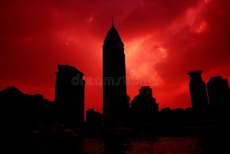 πόλη sunsets στοκ φωτογραφίες