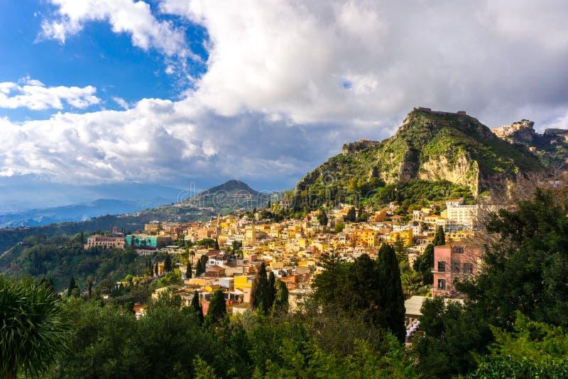 Πόλη Taormina στη Σικελία στοκ εικόνες με δικαίωμα ελεύθερης χρήσης