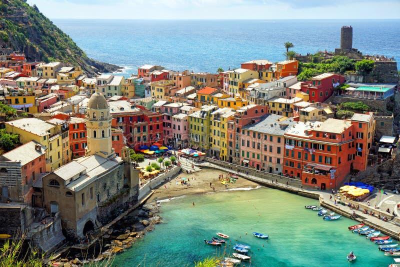 Πόλη Vernazza σε Cinque Terrer στοκ φωτογραφία με δικαίωμα ελεύθερης χρήσης
