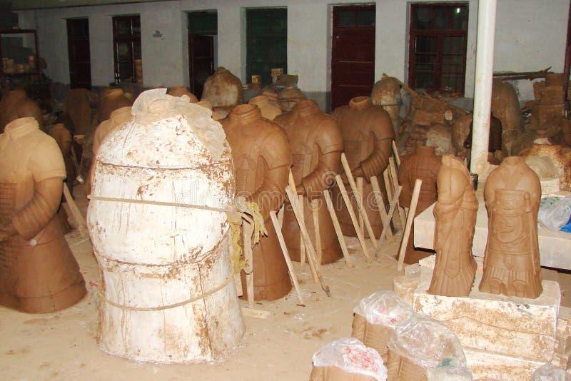 Πόλη Xian Κίνα Τα τοπία της πόλης και του περιβάλλουν, ανασκαφές του στρατού τερακότας στοκ φωτογραφίες με δικαίωμα ελεύθερης χρήσης