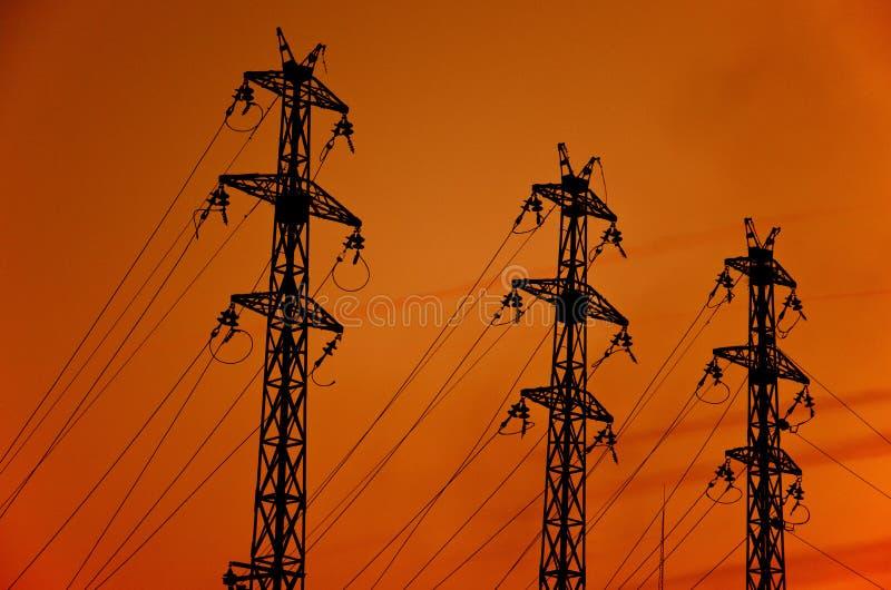 πόλος ηλεκτρικής ενέργε&i στοκ εικόνες
