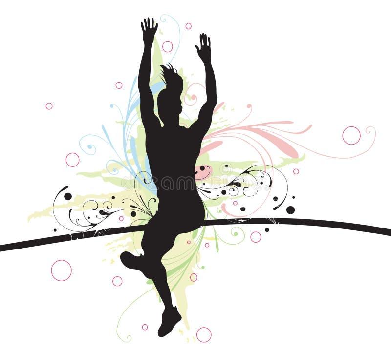 πόλος vaulter διανυσματική απεικόνιση