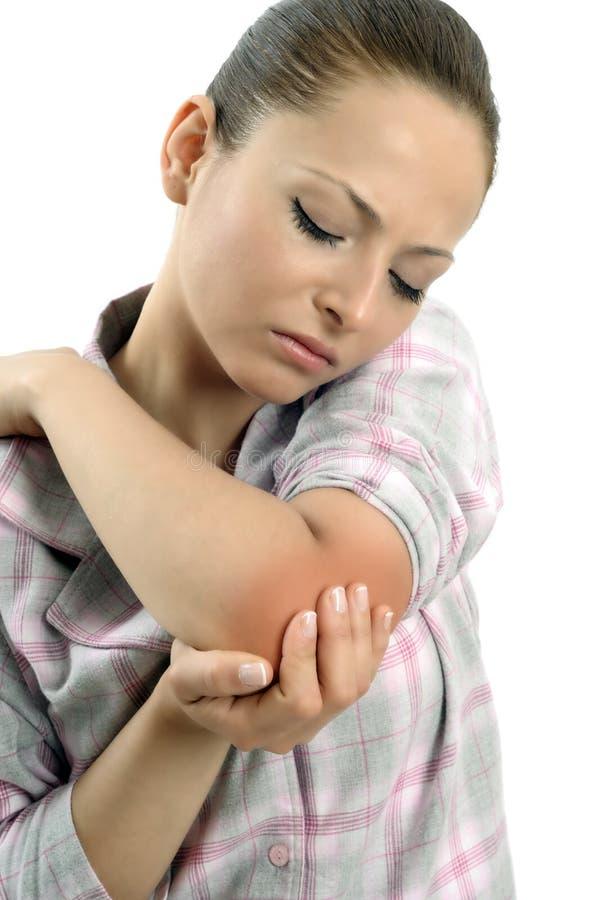 πόνος αγκώνων στοκ φωτογραφίες