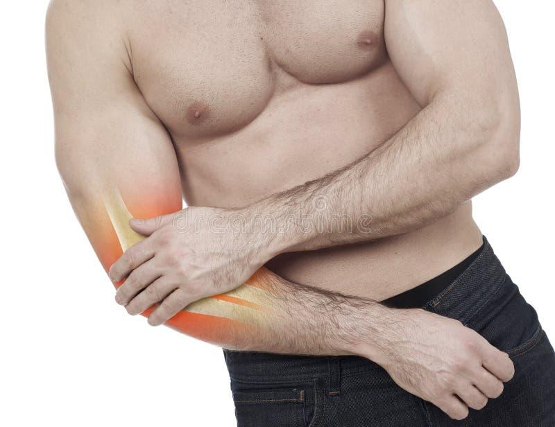 Πόνος αγκώνων στοκ φωτογραφία με δικαίωμα ελεύθερης χρήσης