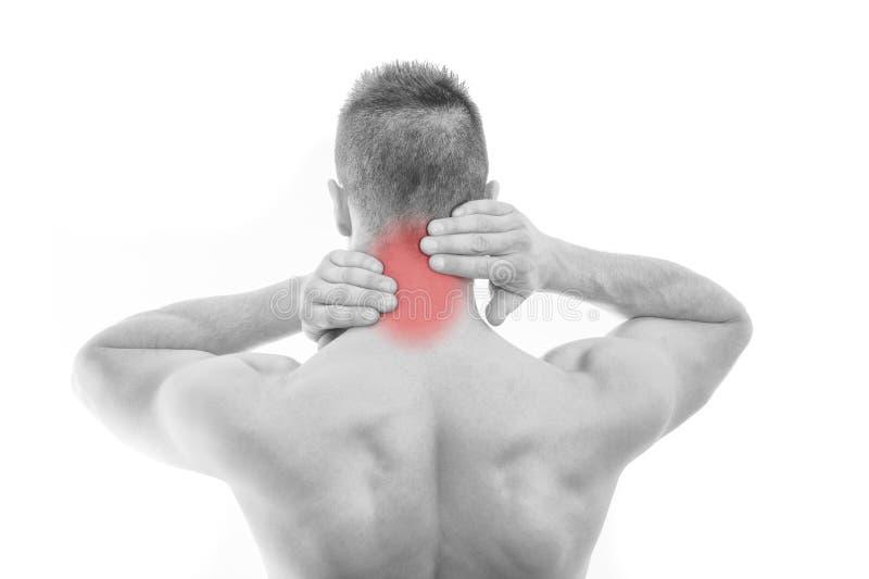 πόνος λαιμών ατόμων στοκ εικόνα με δικαίωμα ελεύθερης χρήσης