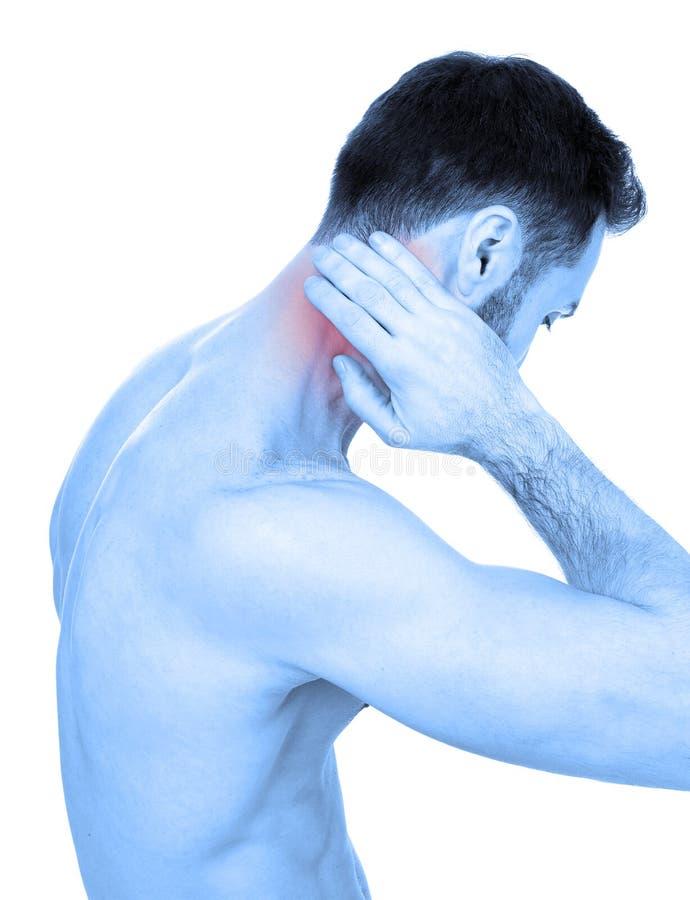 Πόνος λαιμών στοκ φωτογραφία με δικαίωμα ελεύθερης χρήσης