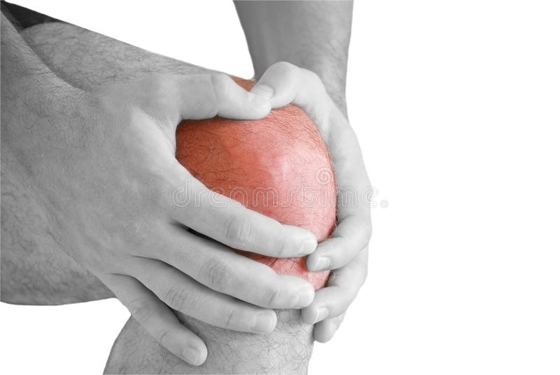 πόνος γονάτων στοκ εικόνες με δικαίωμα ελεύθερης χρήσης