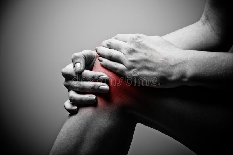 πόνος γονάτων στοκ εικόνα