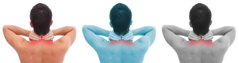 πόνος λαιμών κολάζ στοκ φωτογραφία με δικαίωμα ελεύθερης χρήσης
