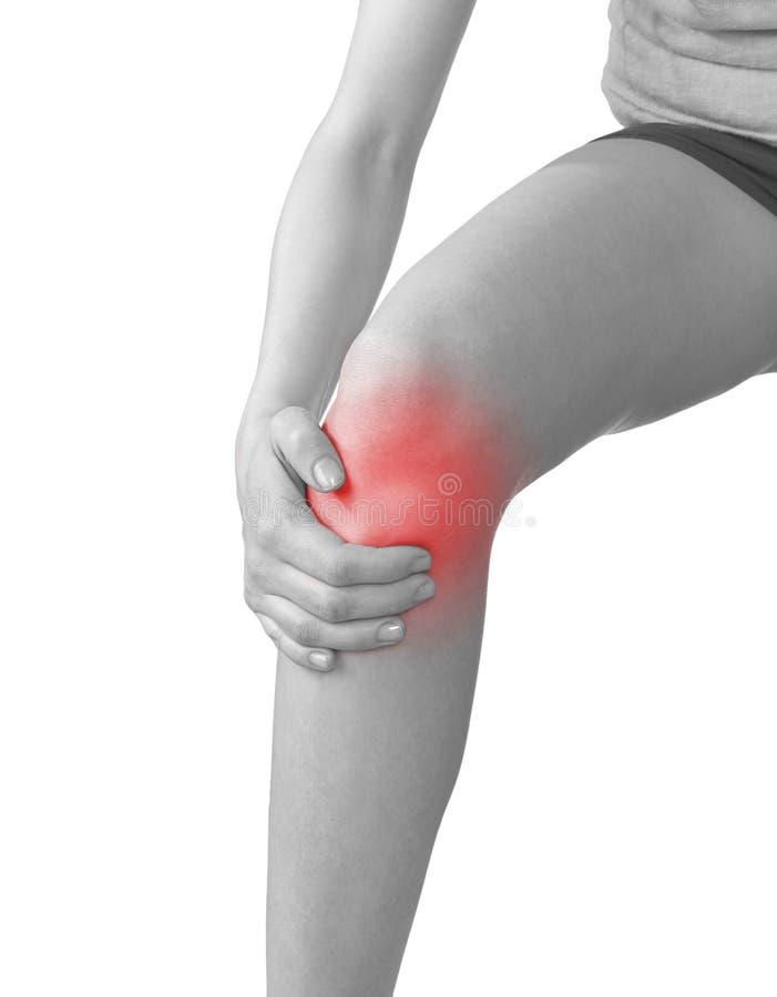 Πόνος σε ένα γόνατο γυναικών στοκ φωτογραφία με δικαίωμα ελεύθερης χρήσης