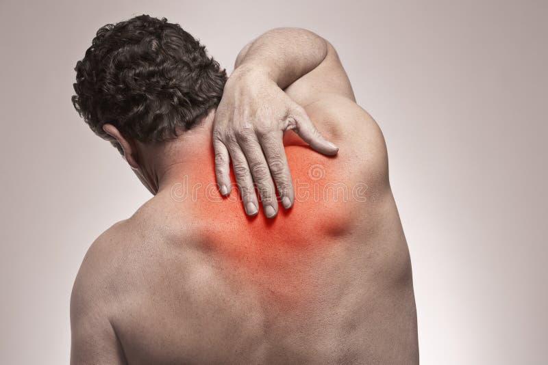 Πόνος στην πλάτη στοκ φωτογραφία