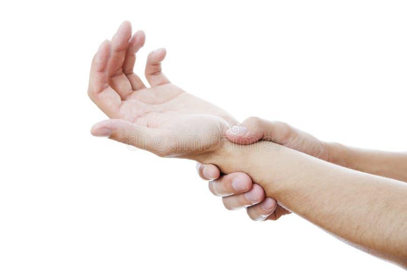 Πόνος στις ενώσεις των χεριών στοκ φωτογραφία