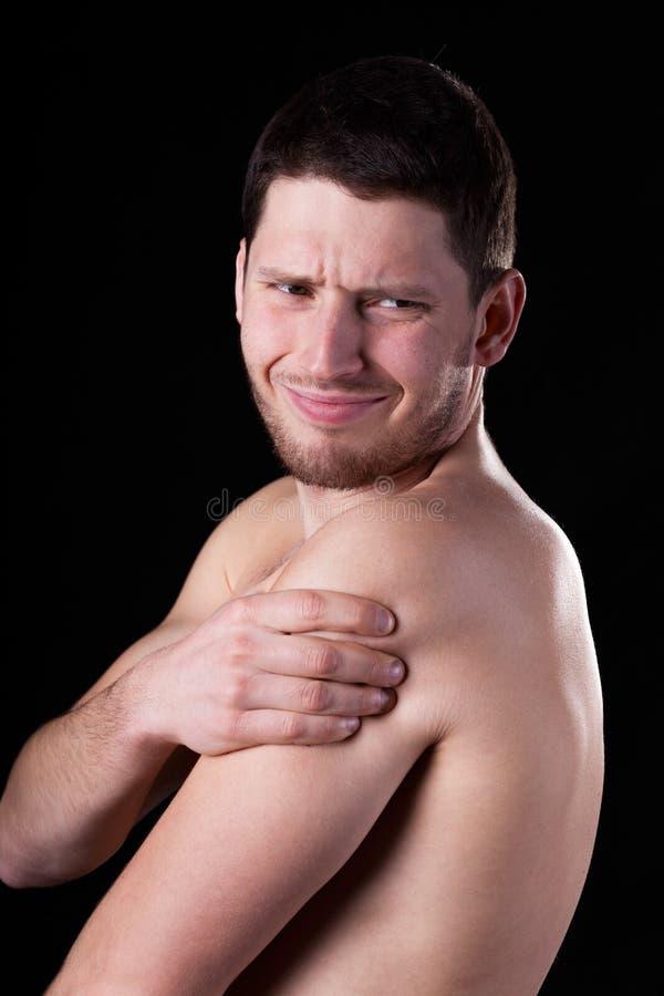 Πόνος rotator της μανσέτας στοκ φωτογραφίες