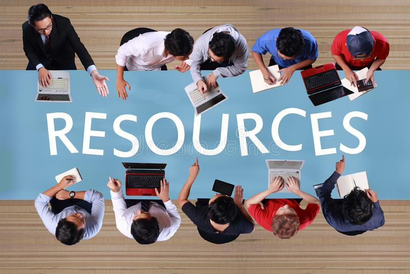 Πόροι στην επιχειρησιακή έννοια Τοπ συνάντηση επιχειρηματιών άποψης στοκ φωτογραφία με δικαίωμα ελεύθερης χρήσης