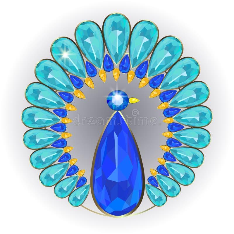 Πόρπη peacock απεικόνιση αποθεμάτων