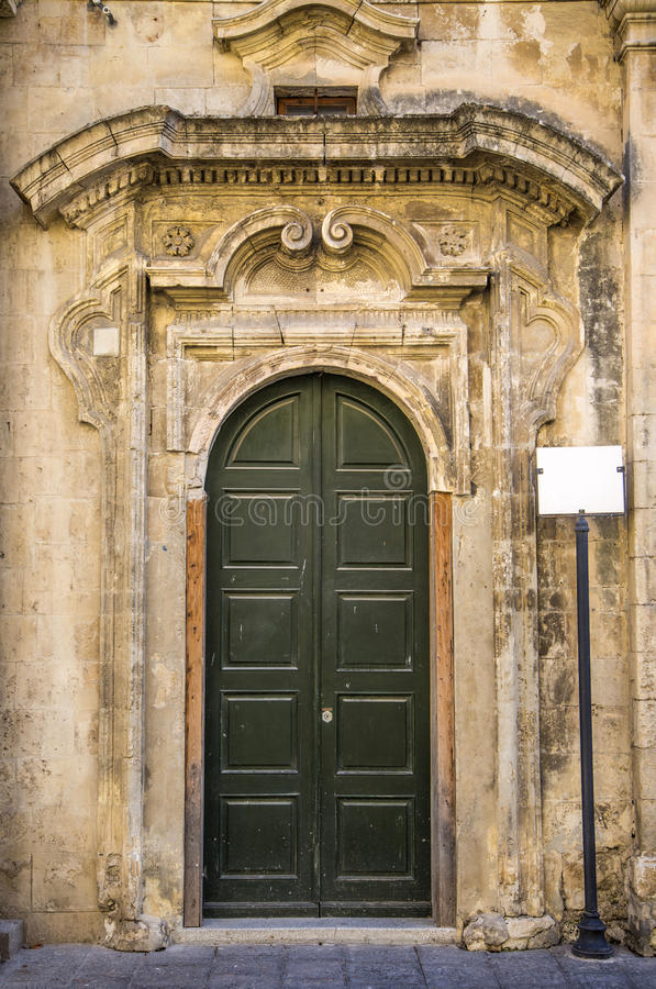 Πόρτα από τη Σικελία στοκ φωτογραφίες με δικαίωμα ελεύθερης χρήσης