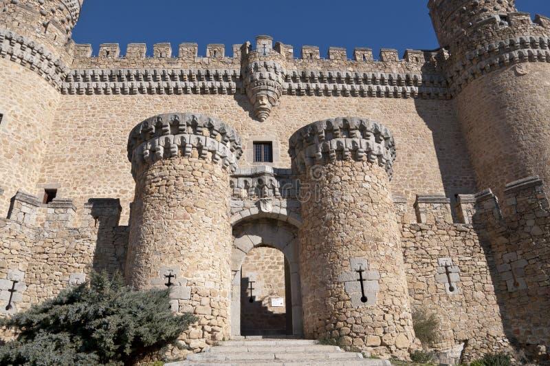 Το νέο Castle Manzanares EL πραγματικό στοκ εικόνα με δικαίωμα ελεύθερης χρήσης
