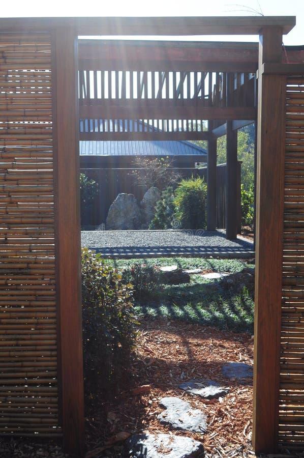 Πόρτα κήπων στοκ φωτογραφία