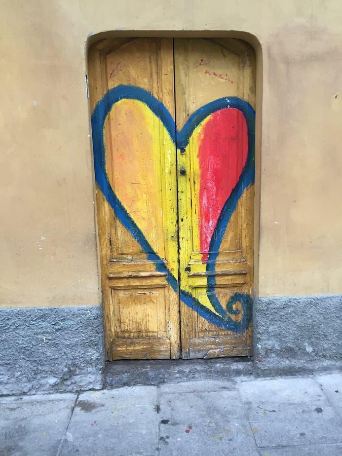 Πόρτα καρδιών στοκ φωτογραφία με δικαίωμα ελεύθερης χρήσης