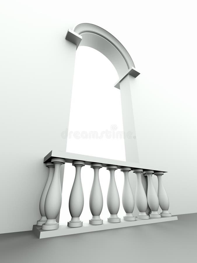 πόρτα κιγκλιδωμάτων αψίδων διανυσματική απεικόνιση