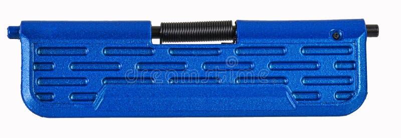 Πόρτα λιμένων πολυμερούς AR15 εκτίναξης που τελειώνουν στο ανοιχτό μπλε στοκ εικόνες