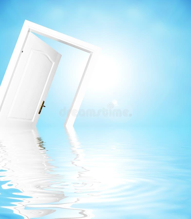 πόρτα νέα στον κόσμο στοκ εικόνες