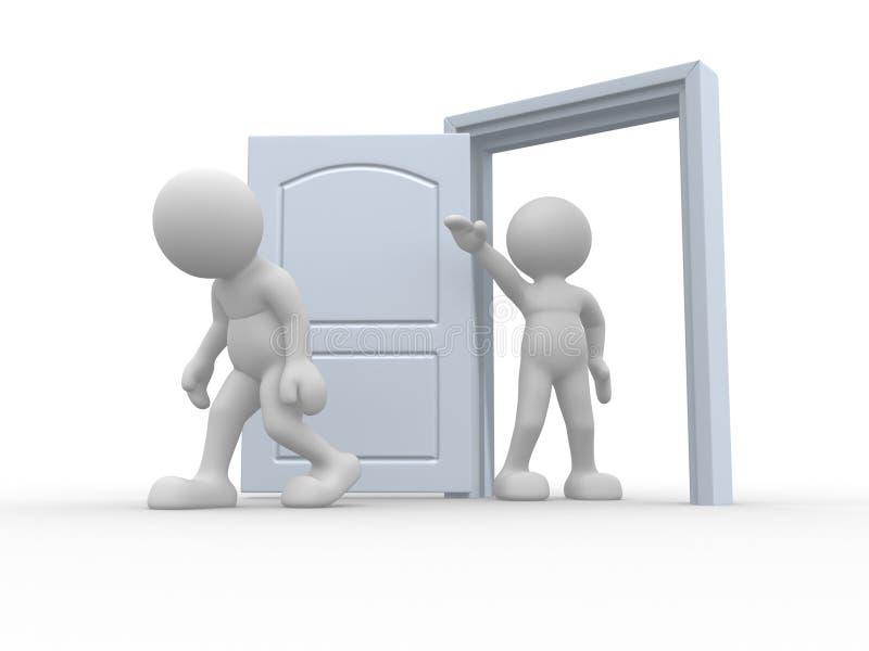 πόρτα που κλωτσιέται έξω απεικόνιση αποθεμάτων