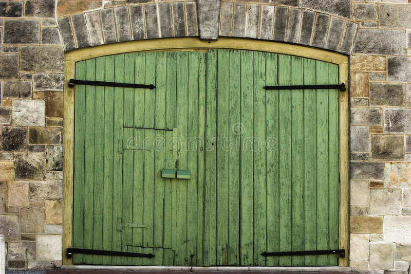 πόρτα πράσινη στοκ φωτογραφία