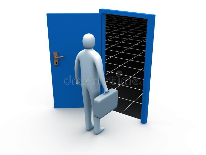 πόρτα σε άγνωστο απεικόνιση αποθεμάτων