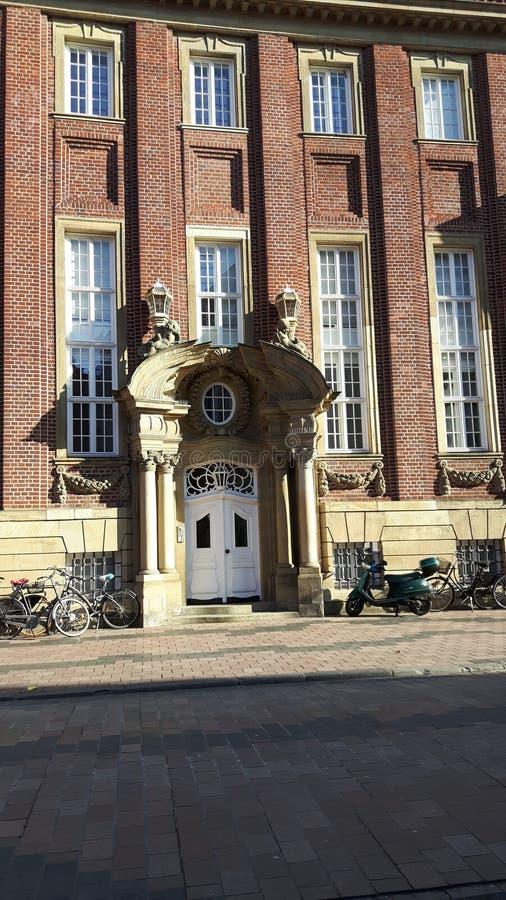 Πόρτα σε MÃ ¼ nster Γερμανία στοκ φωτογραφία
