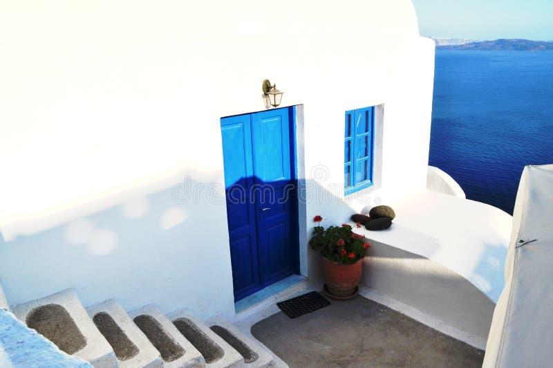 Πόρτα σε Santorini στοκ εικόνα