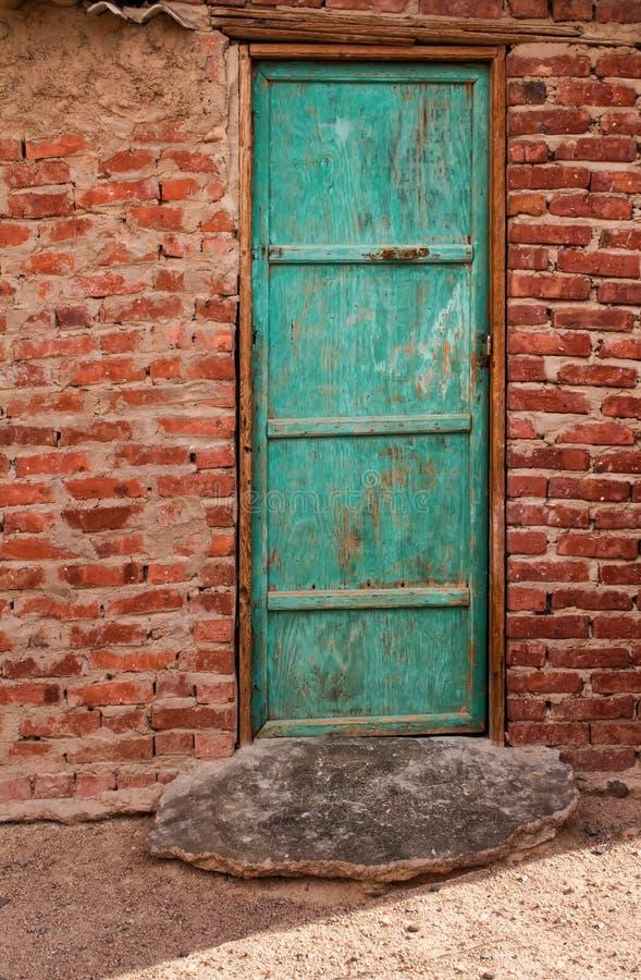 Πόρτα στο βεδουίνο σπίτι, Αίγυπτος στοκ εικόνες