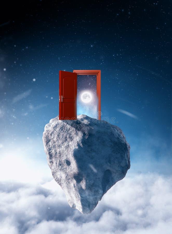 Πόρτα στο διάστημα στοκ εικόνα με δικαίωμα ελεύθερης χρήσης