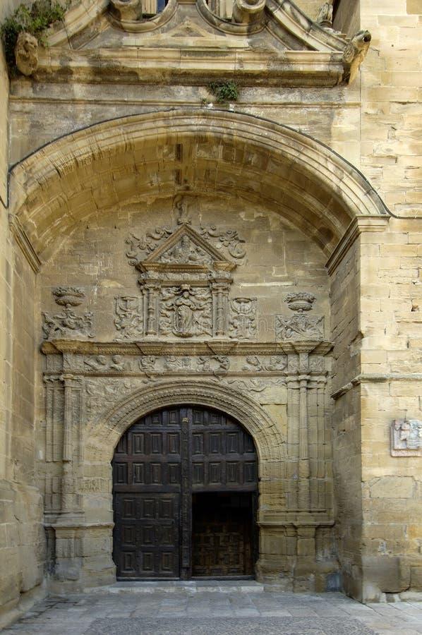 Πόρτα του Λα Asuncion Church, Briones, Λα Rioja, Ισπανία στοκ εικόνα με δικαίωμα ελεύθερης χρήσης