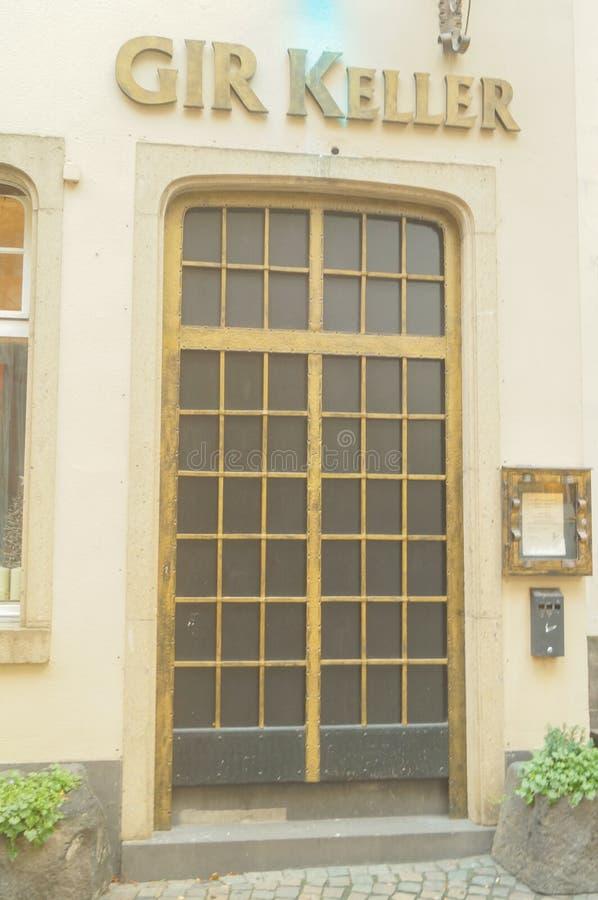 Πόρτα του ξενοδοχείου Gir Keller σε Clologne Γερμανία στοκ εικόνες