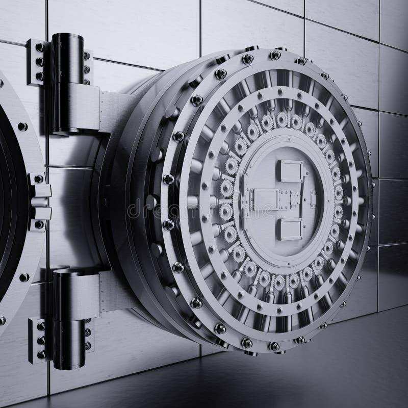 Πόρτα υπόγειων θαλάμων τράπεζας απεικόνιση αποθεμάτων