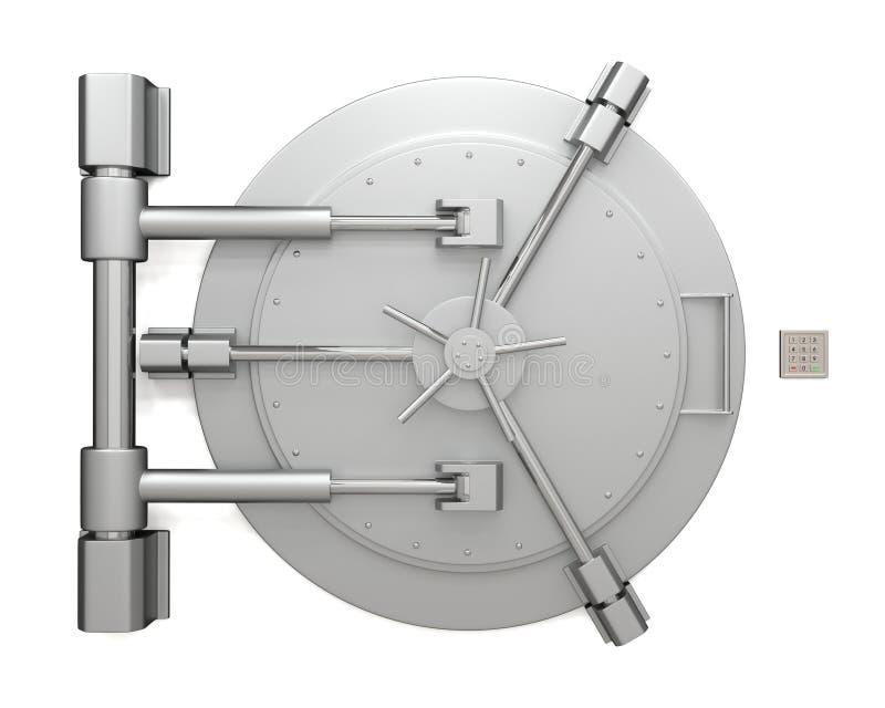 Πόρτα υπόγειων θαλάμων τράπεζας διανυσματική απεικόνιση