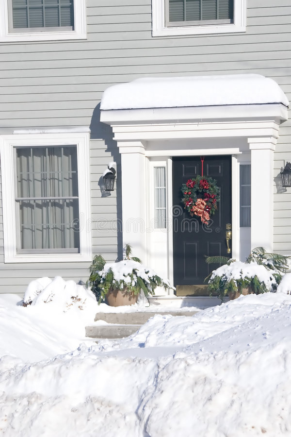 πόρτα Χριστουγέννων στοκ φωτογραφίες με δικαίωμα ελεύθερης χρήσης