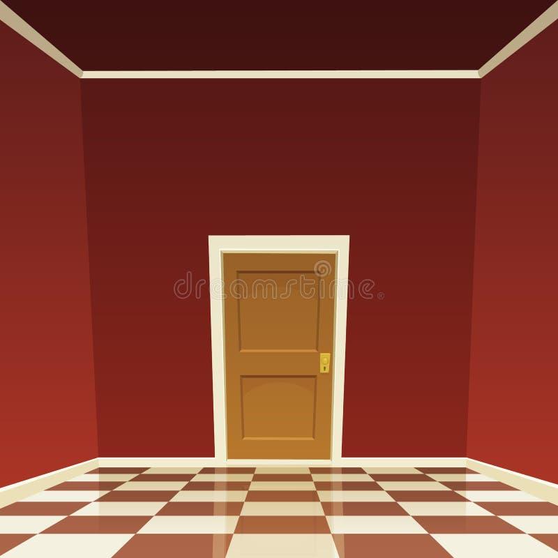 Πόρτα δωματίων απεικόνιση αποθεμάτων