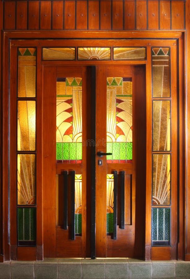πόρτα deco τέχνης στοκ εικόνες