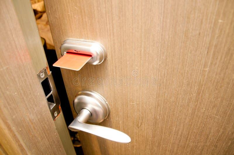 πόρτα keycard στοκ φωτογραφία με δικαίωμα ελεύθερης χρήσης
